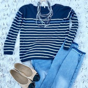 Joie blue and white striped sweater